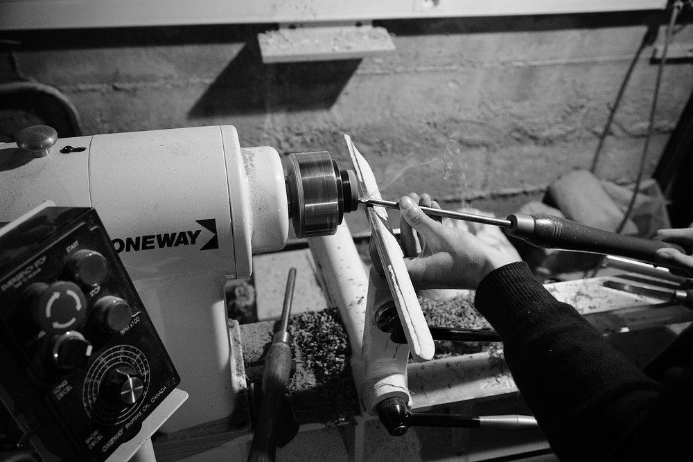 Maxime en train de tourner sur sa machine - Photo Linda Leonard
