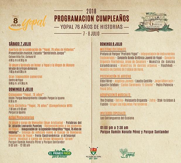 Participación en la Exposición ''Yopal, 76 años de Historias''. Yopal, Colombia