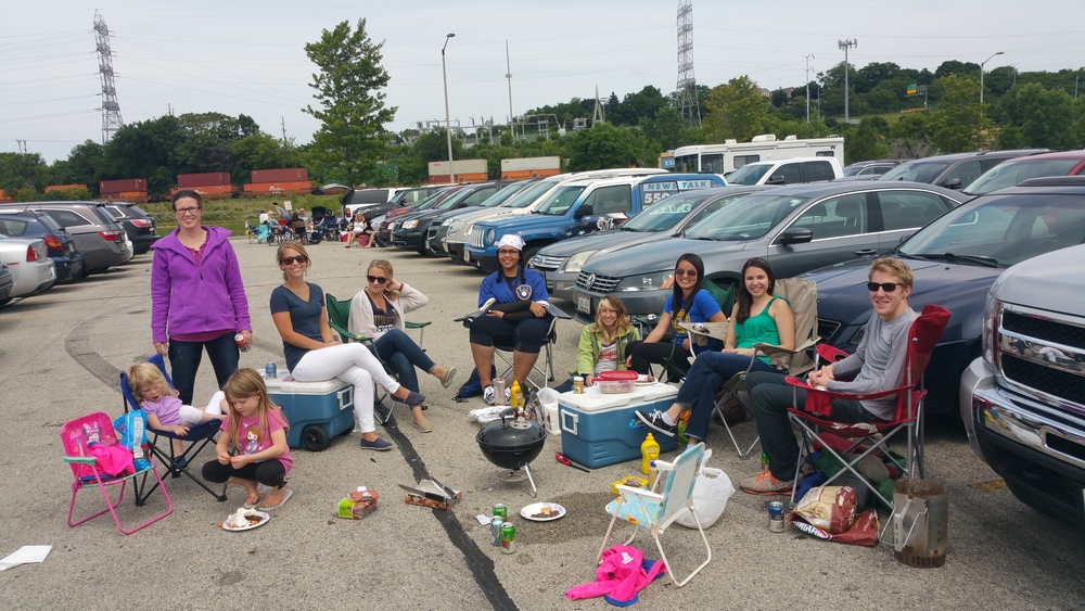 Tailgating before the Brewers game, Summer 2015