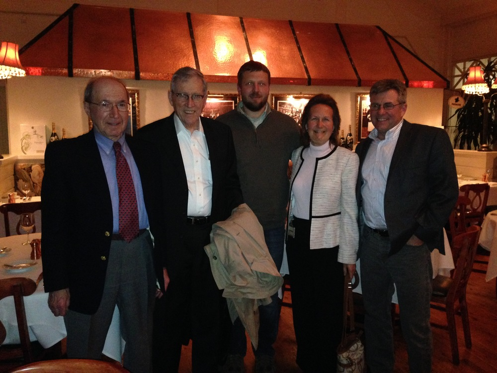 Dinner with Dr. Girotti, Dr. Sly, Dr. Scaglione, Dr. Dahms, and Dr. Corbett.  Dr. Sly was the 2016 Taketa lecturer and gave an amazing talk on his his discovery of MPSVII (Sly Syndrome) all the way to discovering a treatment and treating the first patients.