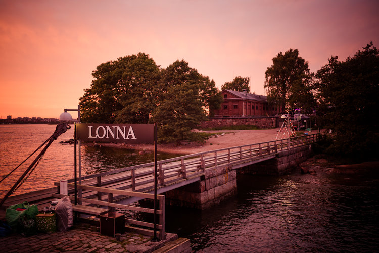 The beautiful Lonna island is located only a seven minute ride from the  Helsinki market square. Long ago, the island was used as a demagnetizing  center for ...