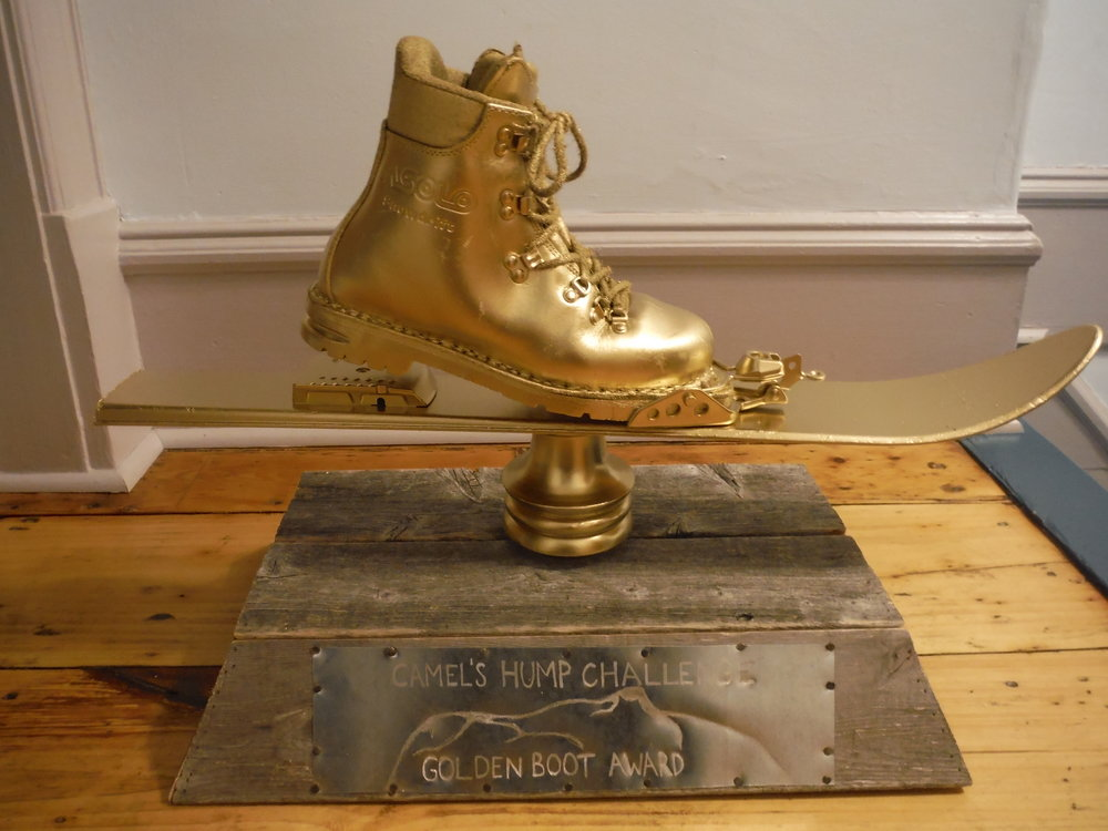 Golden Boot Trophy - For Camel's Hump Challenge