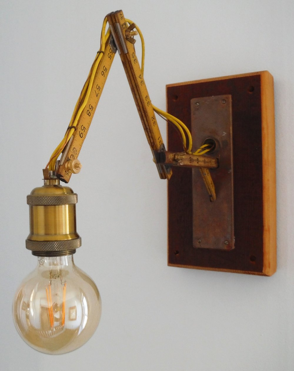 Carpenter's Rule Wall Light or Desk Lamp