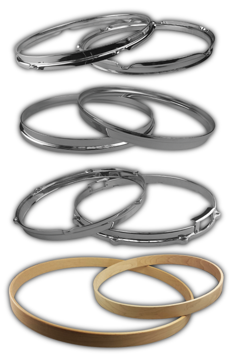 Chrome and Maple Hoops