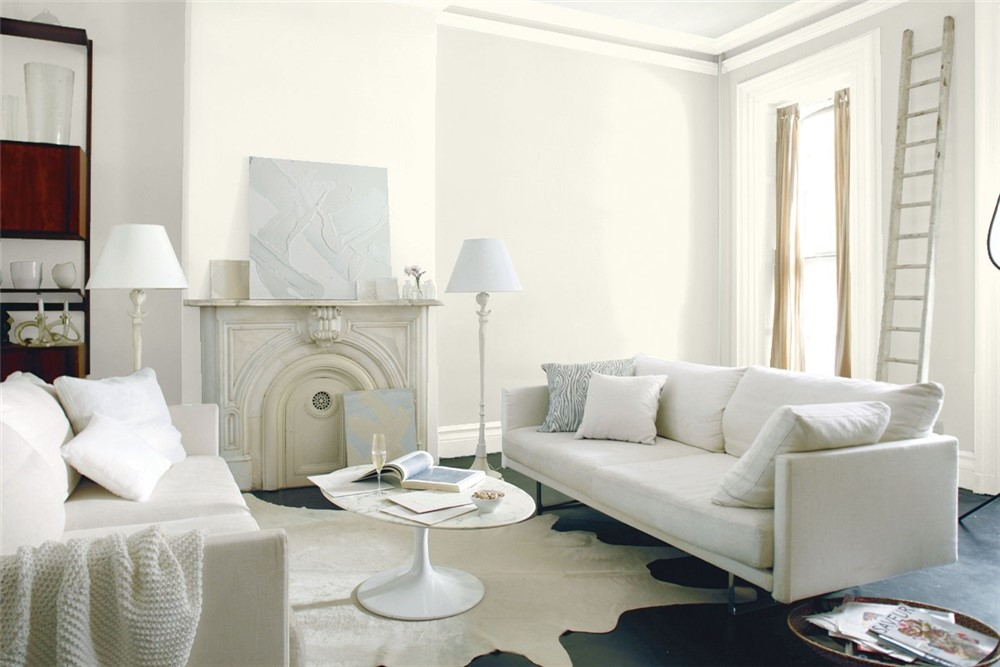 A White Dove room by Benjamin Moore.