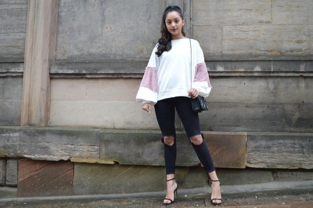 7d788197eeb Pink Fur - Zara Sweatshirt — WhatSheWore