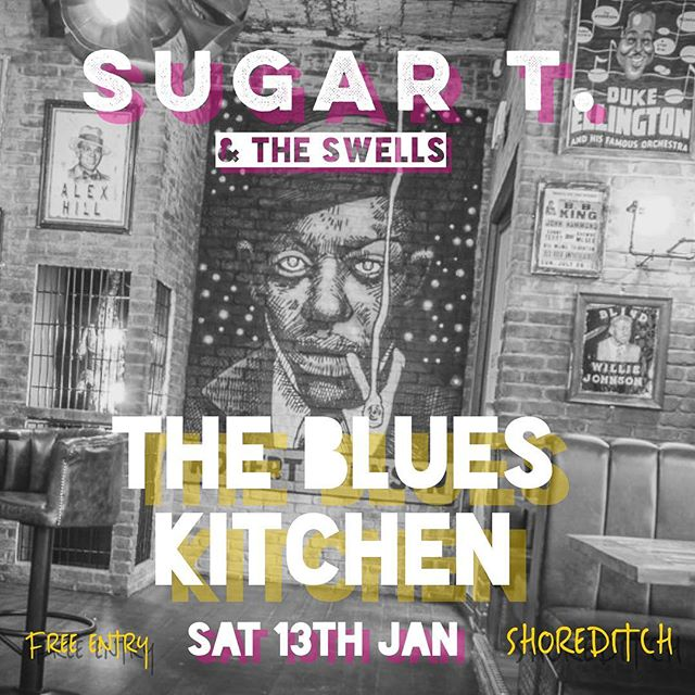 🖤SATURDAY NIGHT🖤  We're at @theblueskitchen in #Shoreditch, shaking off our winter blues and shaking our things to our new blues. JOIN US. BRING DANCING SHOES.