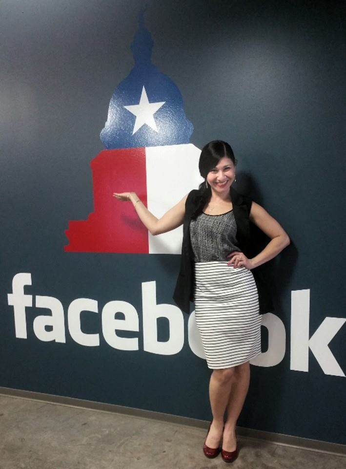Sahar Paz speaks at Facebook Austin