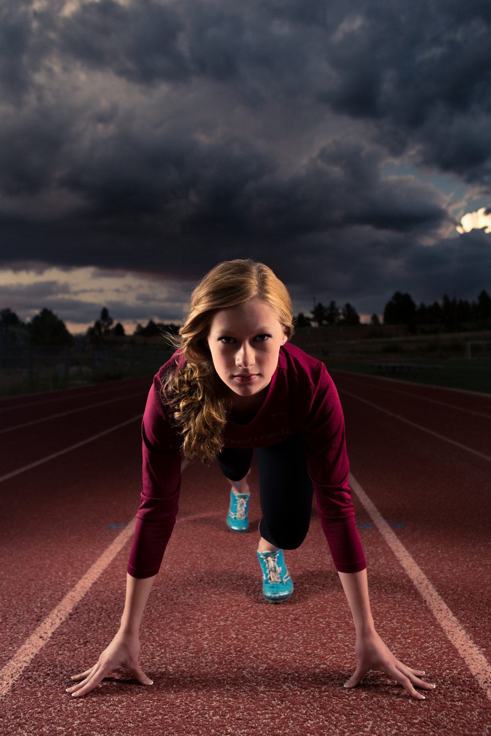 brianne track and field senior portrait nike poster