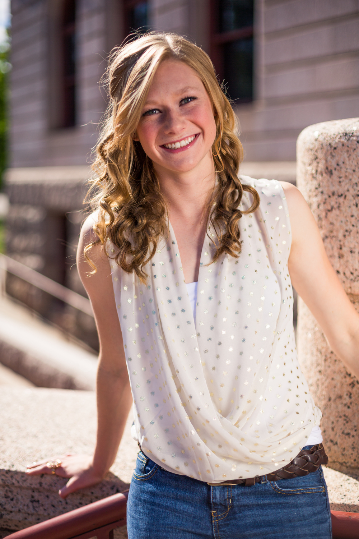 Brianne senior portrait Colorado springs