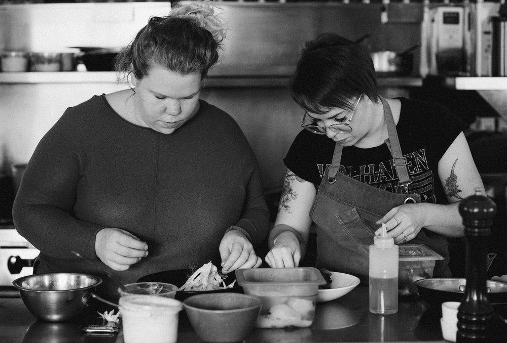 Arianne (sous-chef) et Fanny (chef)