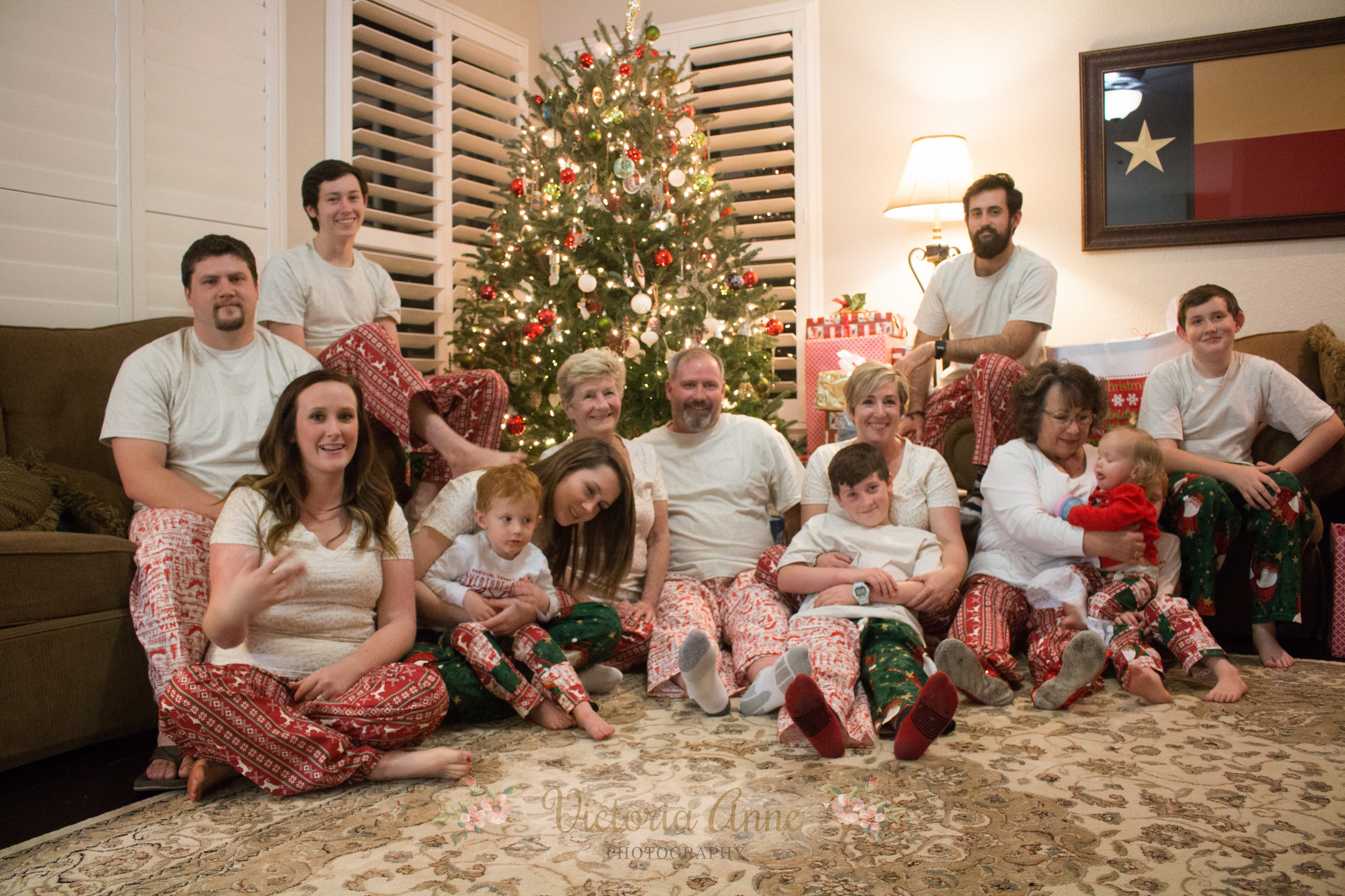 Family Christmas PJ selfie