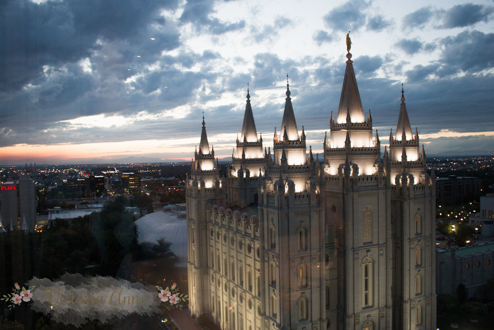 This is the LDS temple in Salt Lake City, UT. Kyle and I were married in a similar temple in San Antonio, Tx. We use the promises and knowledge gained within these holy walls as a guid post in our lives.