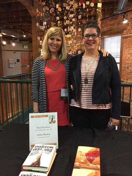 Authors Keija Parssinen and Ashley Warlick at the 2016 Arkansas Literary Festival.