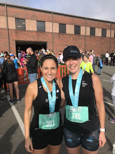 Tia and I, just after the race; I'm so thankful for her friendship! Photo credit: Tia's husband, John.