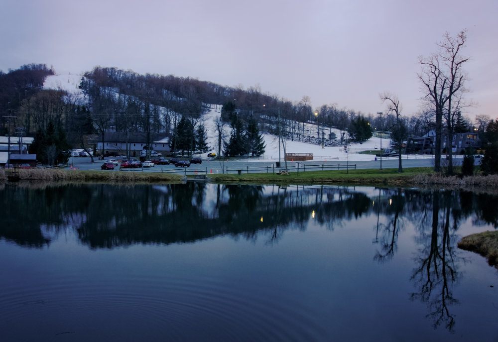 The west of Roundtop Mountain Resort just after Sunset.