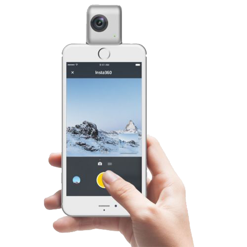 Insta360 Nano for iPhone 6 and later. Android users see Insta360 Air!