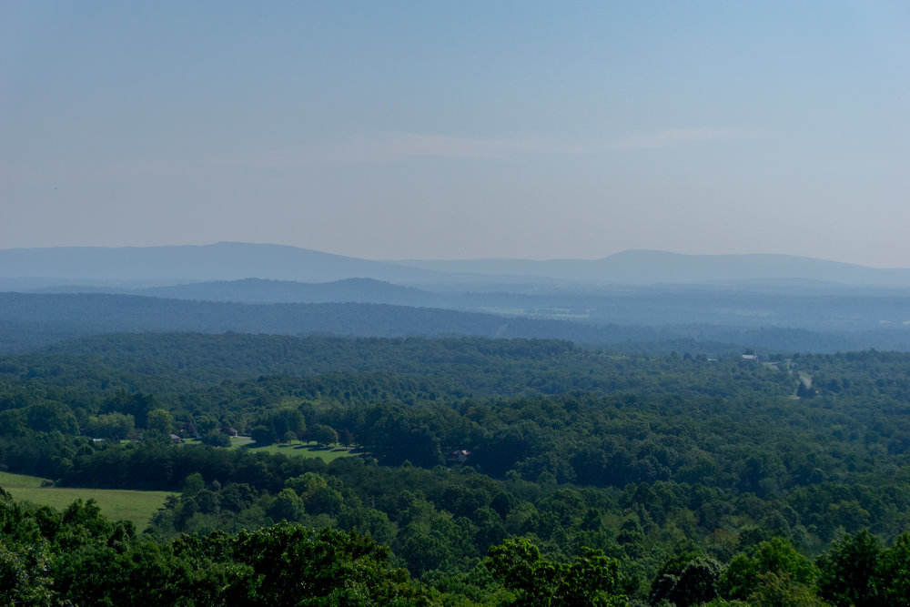 Looking East from Sideling Hill Welcome Center in the morning.