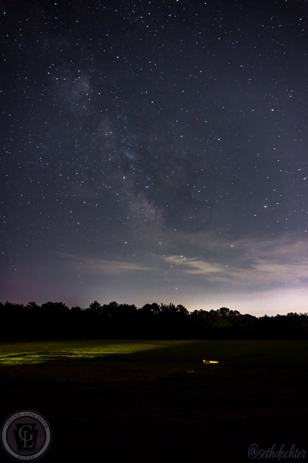 The Milky Way as seen at Cape Henlopen State Park while we waited for the traffic to ease up after the fireworks