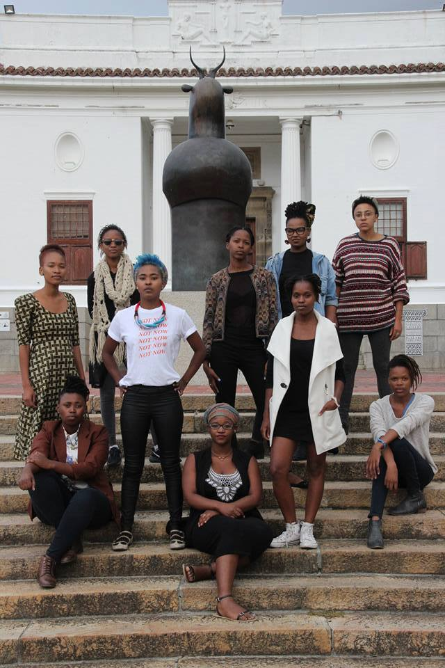 iQhiya: Bonolo Kavula, Bronwyn Katz, Sisipho Ngodwana, Asemahle Ntlonti, Lungiswa Gqunta, Buhlebezwe Siwani, Thandiwe Msebenzi, Matlhogonolo Kelapile, Sethembile Msezane, Pinky Mayeng and Thuli Gamedze. Photo: Charl Attan for the Mail and Guardian