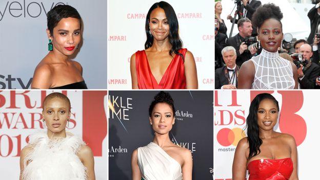 (L-R) Zoe Kravitz, Zoe Saldana, Lupita Nyong'o, Adwoa Aboah, Gugu Mbatha-Raw and Jennifer Hudson have been on the front of top UK magazines since January 2017
