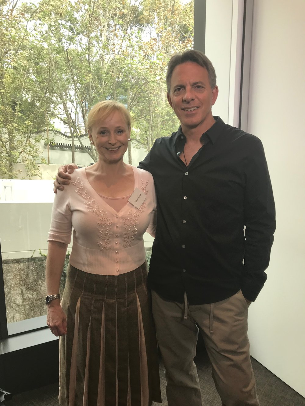 Dan with Nicola Stokes, CEO of the Sydney Children's Hospital Foundation