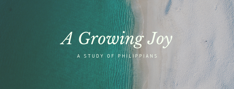 "The letter to the church in Philippi has been called the ""Epistle of Joy"" resulting from Paul's repeated mention of, experience of, and call to JOY. Throughout his instructions and encouragements there is a rootedness in the active grace of God in and for His people—and it is from that foundation that everything else grows: joy, endurance, contentment, love for others, faith in God, and more. We will take a week by week look at the letter, learning more about this active grace Paul roots his message within, with the aim to follow this letter's guidance toward A Growing Joy."