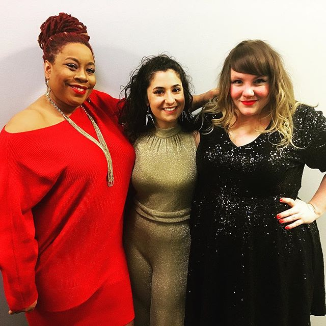 What an amazing joy it was to sing in the @wyeppgh Holiday Hootenany house band with these amazing ladies!