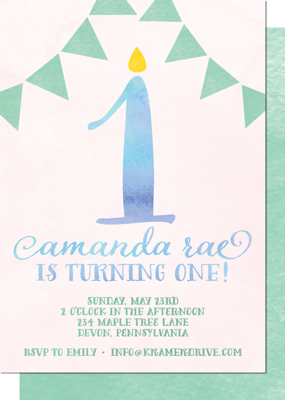 KD3125IN-PB Candle Banner