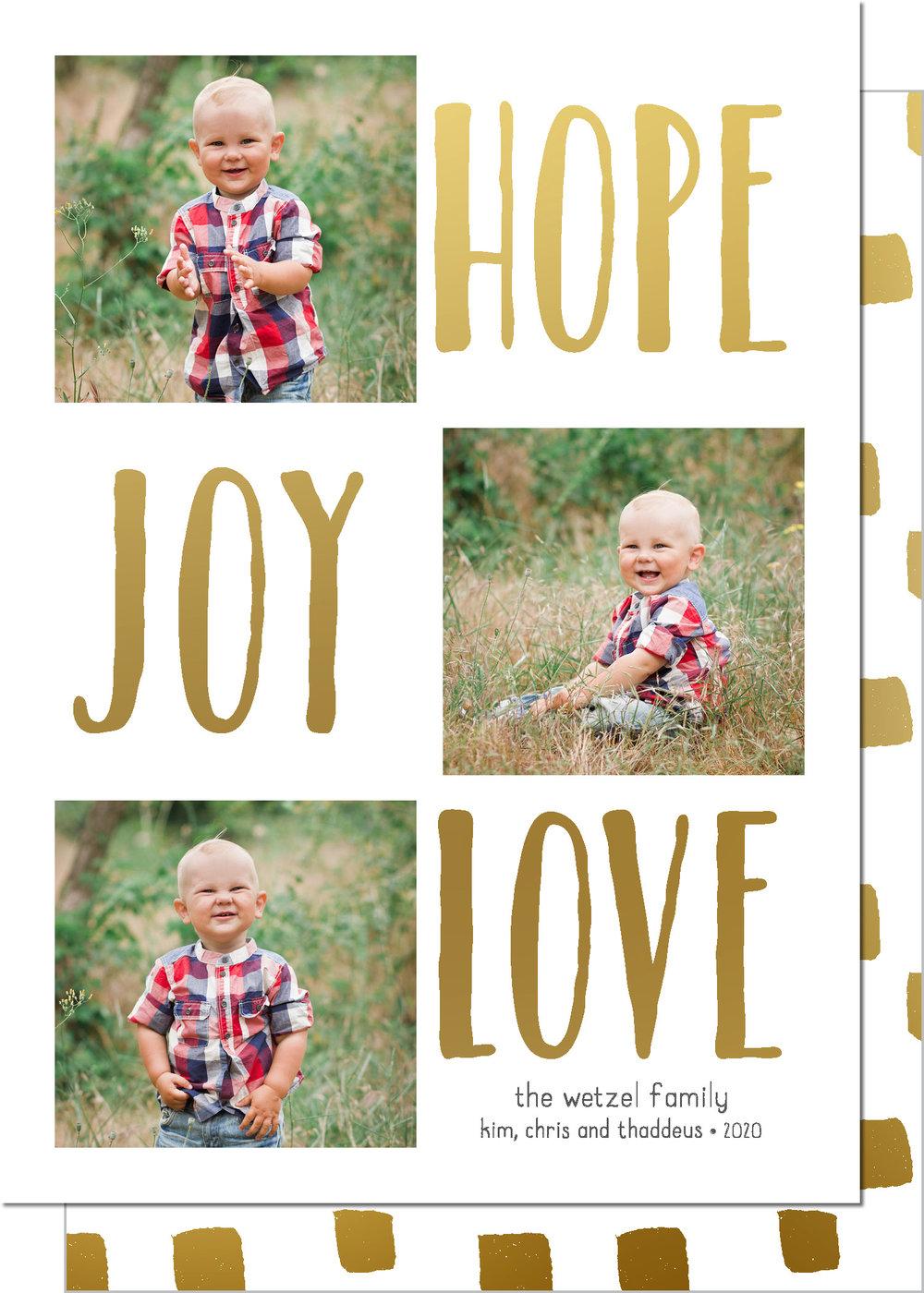 KD5234IN-PB Hope Joy Love