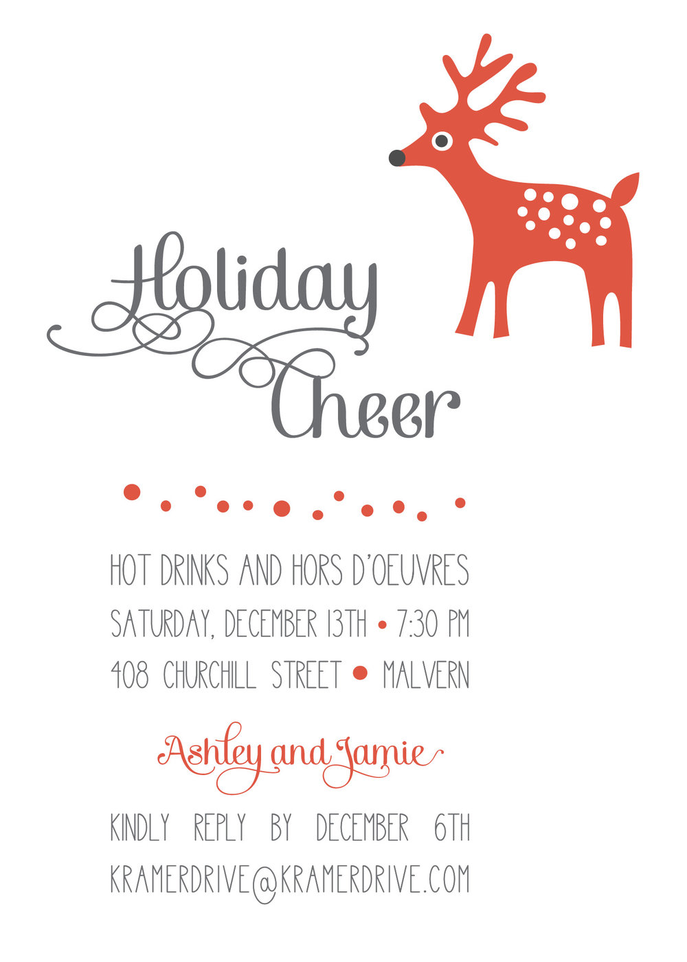 KD5122INRD Reindeer Cheer