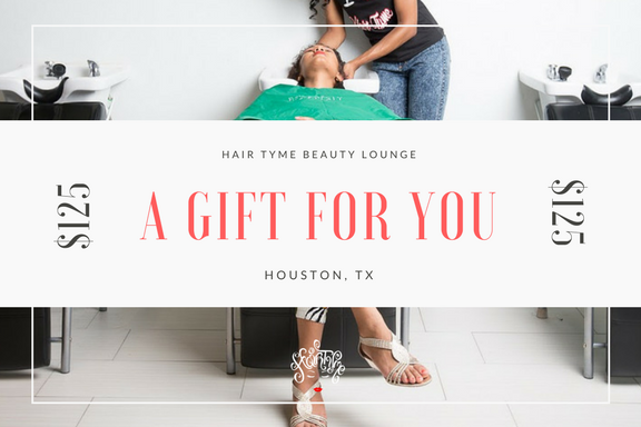 - Give the gift of Hair TYMEPurchase a $100 Hair TYME gift certificate and get an additional $25. Offer Valid in store only. Not valid on same day services. Offer expires December 25, 2017.