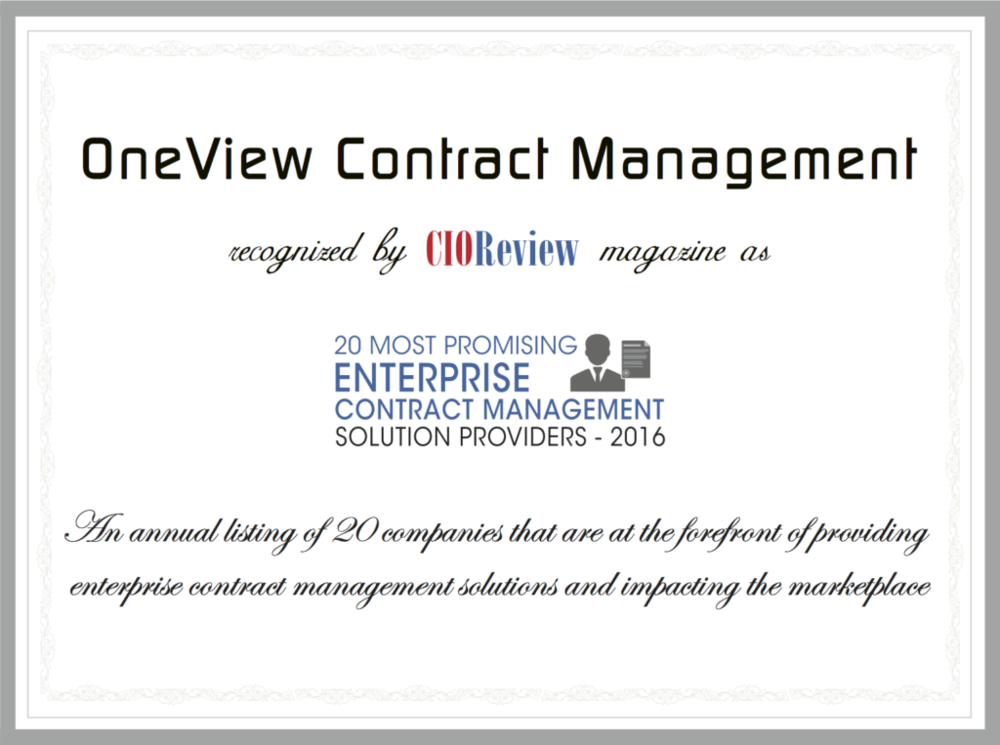 oneview-contract-management