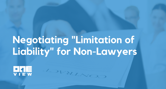 Negotiating Limitation Of Liability For NonLawyers OneView - Non responsibility clause