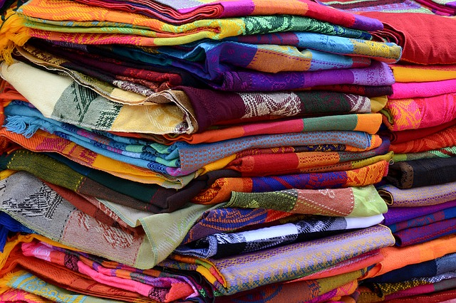 Colorful blankets and tablecloths are a typical souvenir from the Riviera Maya
