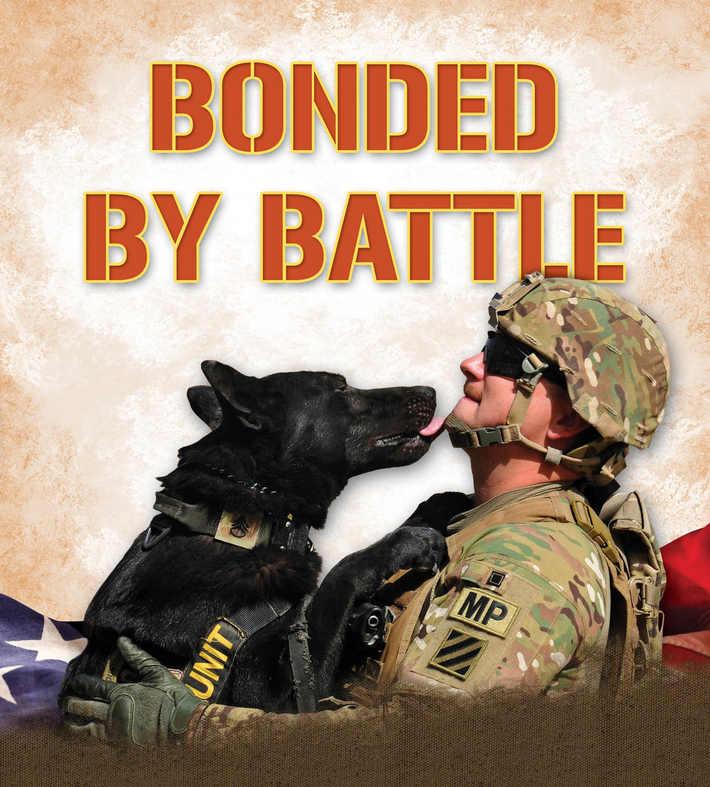 BONDED BY BATTLE will be released May 2 in hardcover, eBook, and audio editions.