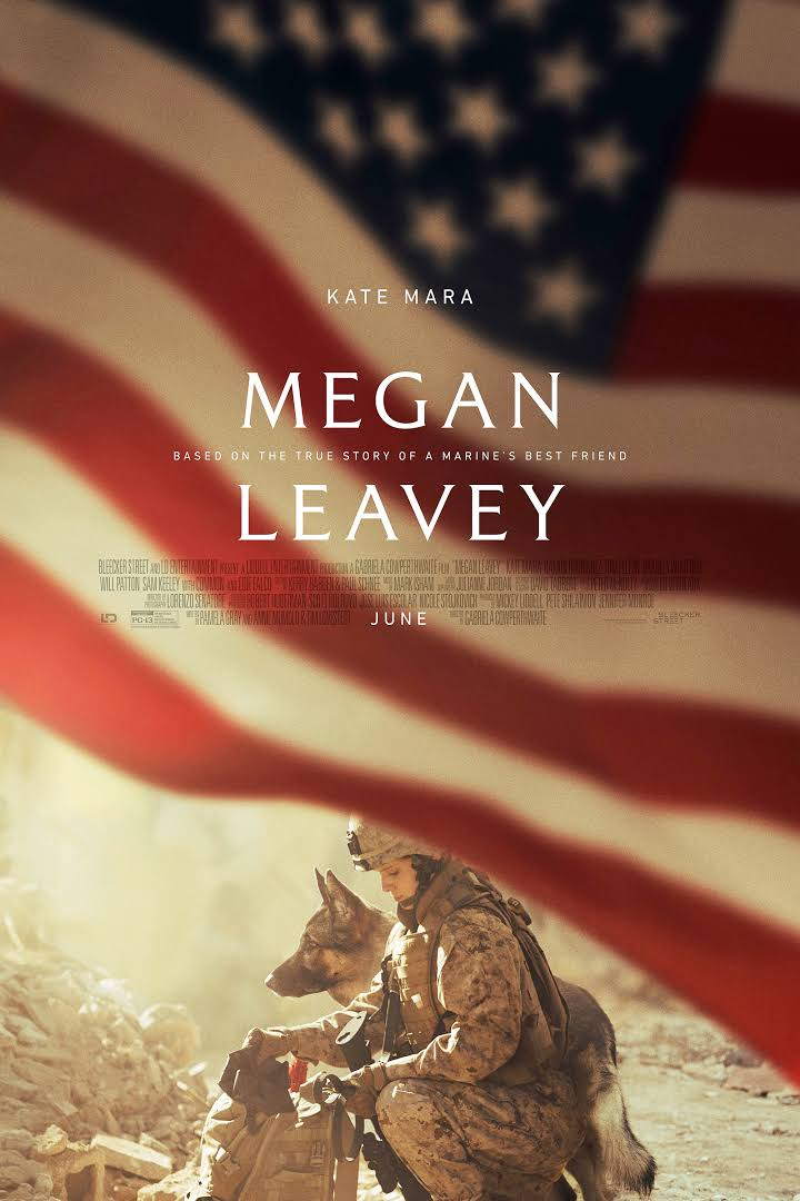 Megan Leavey and Rex are featured in a new film starring Kate Mara as Megan, opening June 2017. -