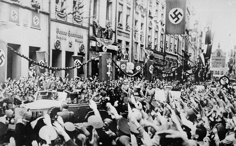 This image of a 1939 rally is part of a new online exhibit on Nazi symbols and their origins at the US National Holocaust Memorial Museum.