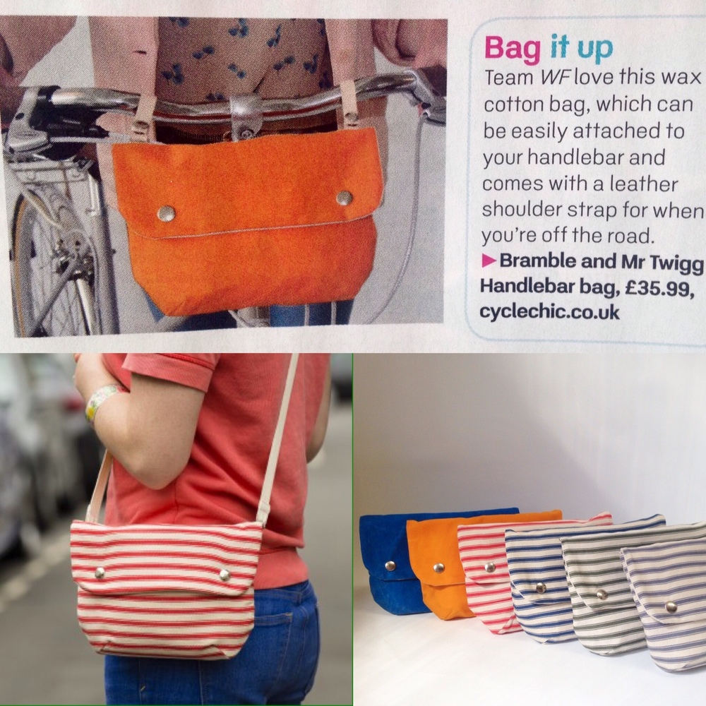 Women's fitness magazine waterproof and cotton handle bar bags cycling special cycle chic
