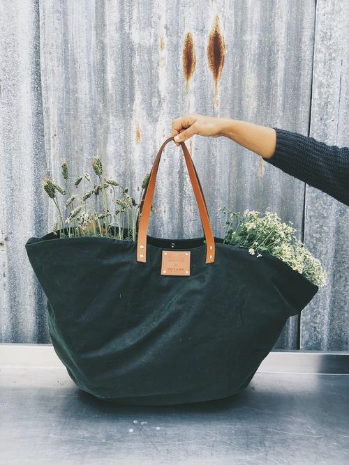 Botany wax cotton waxed oilcloth handmade bag yoga mat plants waterproof handmade