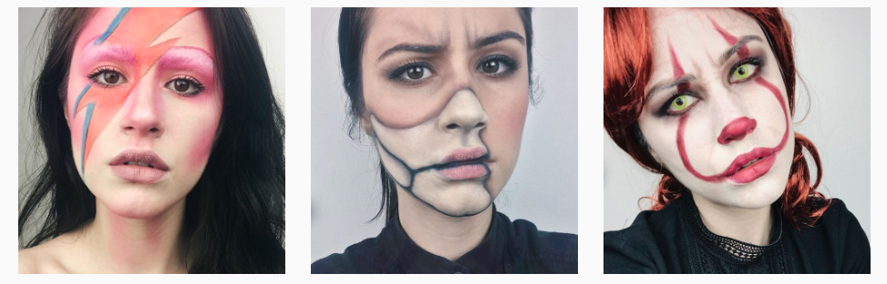 maquillage halloween, halloween 2017, best halloween ideas