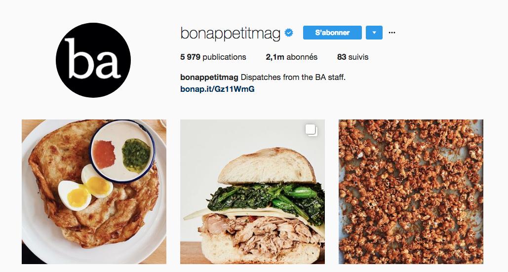 bon appetit mag, instagram food, food pictures, food magazine