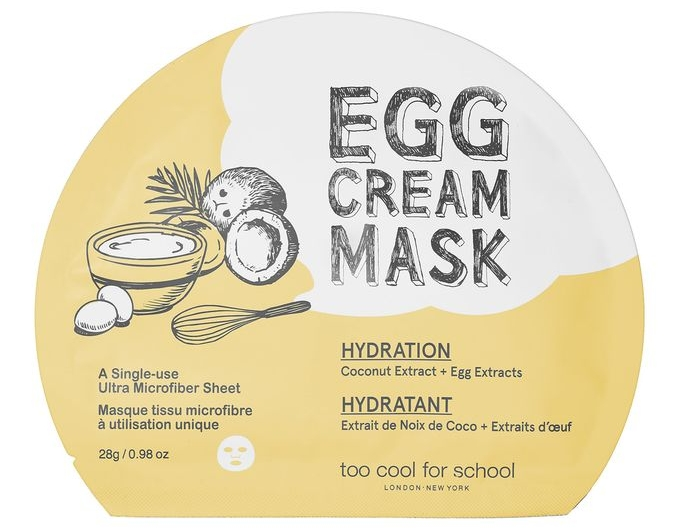 Egg Cream Mask $6 Each  www.toocoolforschool.com
