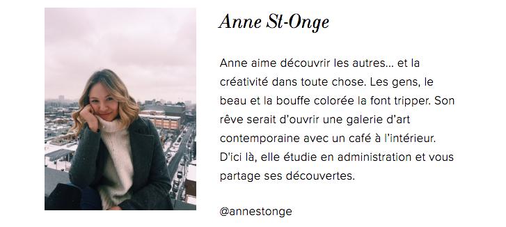 ANNE ST-ONGE