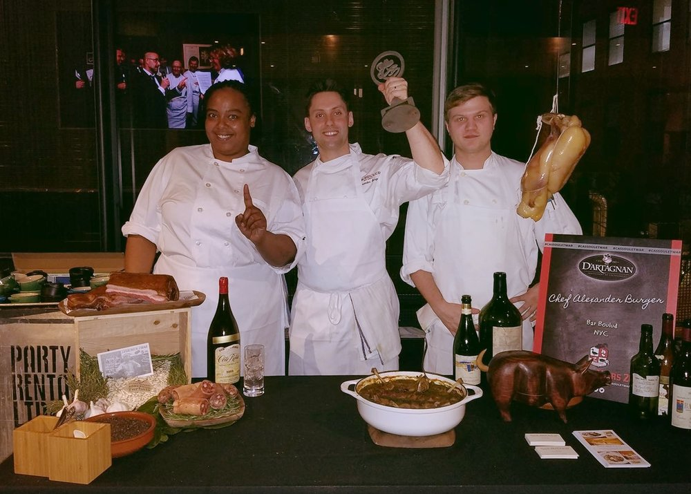 Winning the Cassoulet War 2018 with chef Burger - Photo credit: Tyrice Foster