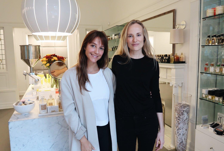 Left to right : Léa Bégin, founder of Beauties, Jasmi Bonnén, founder of NUORI