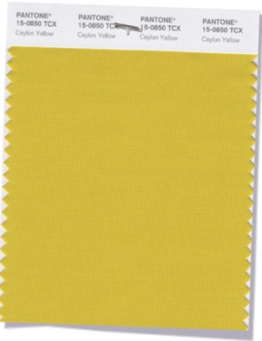 PANTONE 15-0850  Ceylon Yellow