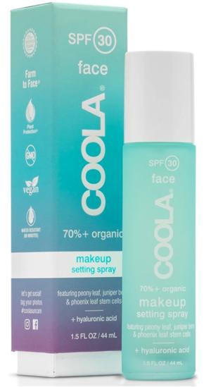 Fixatif pour maquillage avec SFP 30 de Coola