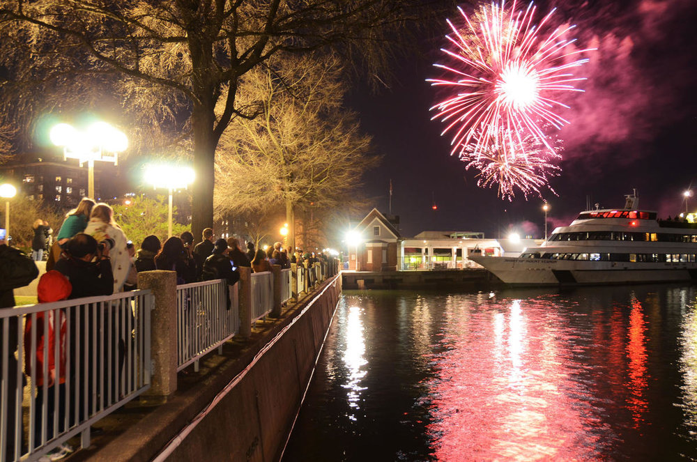 Watch the Southwest Waterfront Fireworks Festival, as part of the annual National Cherry Blossom Festival