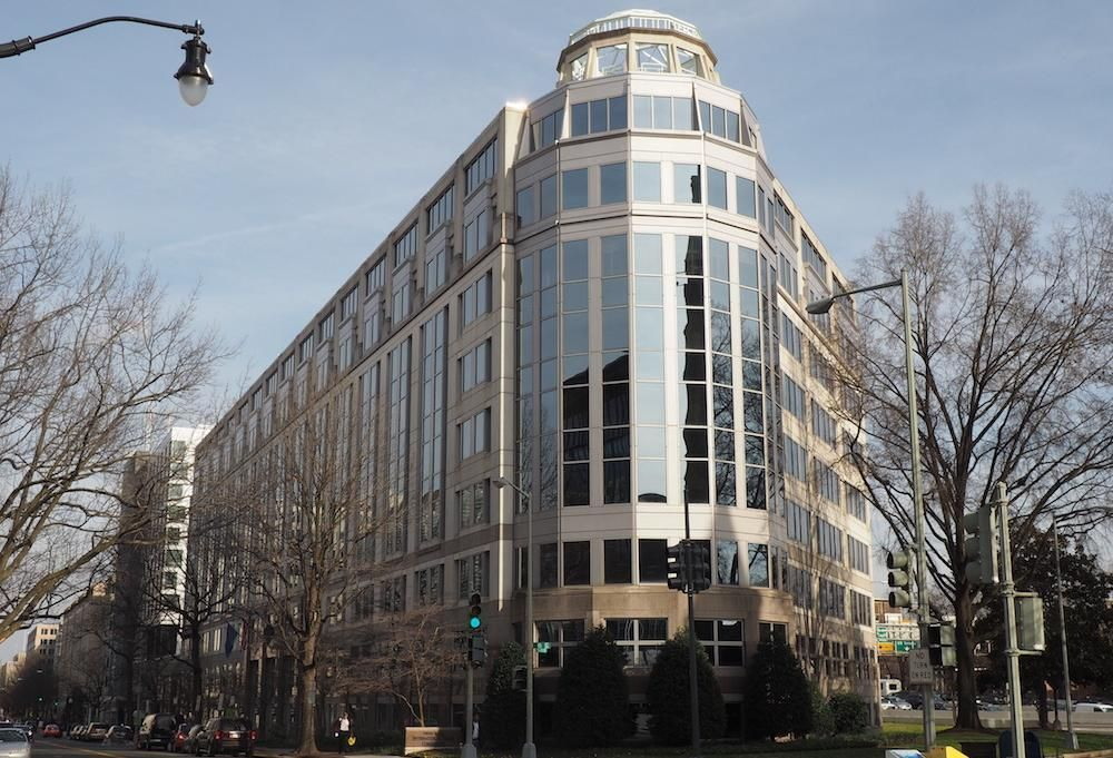 The International Trade Commission building at 500 E St. SW